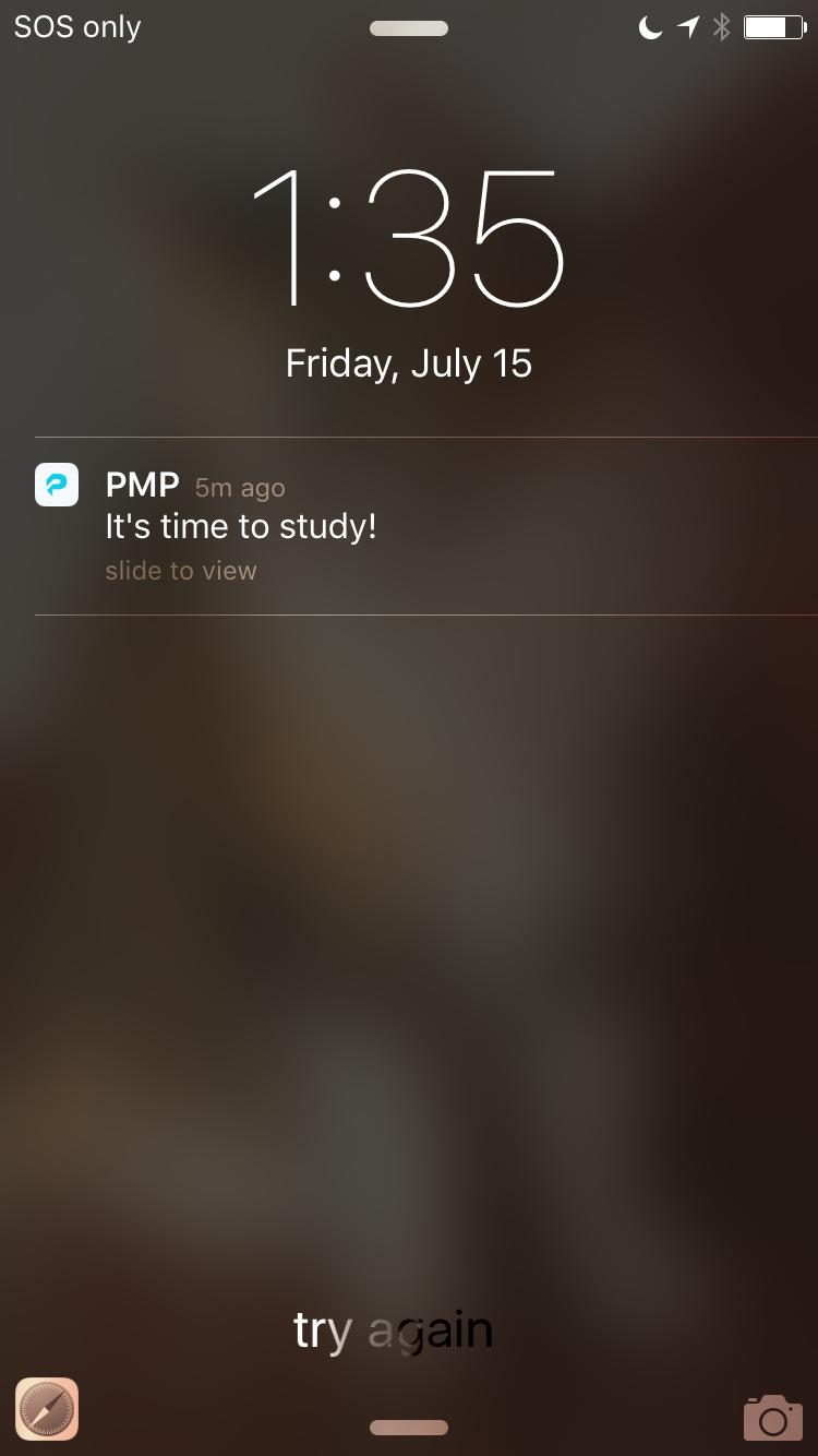 pmp apps reminder