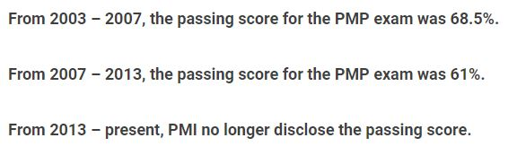 PMP Passing Score