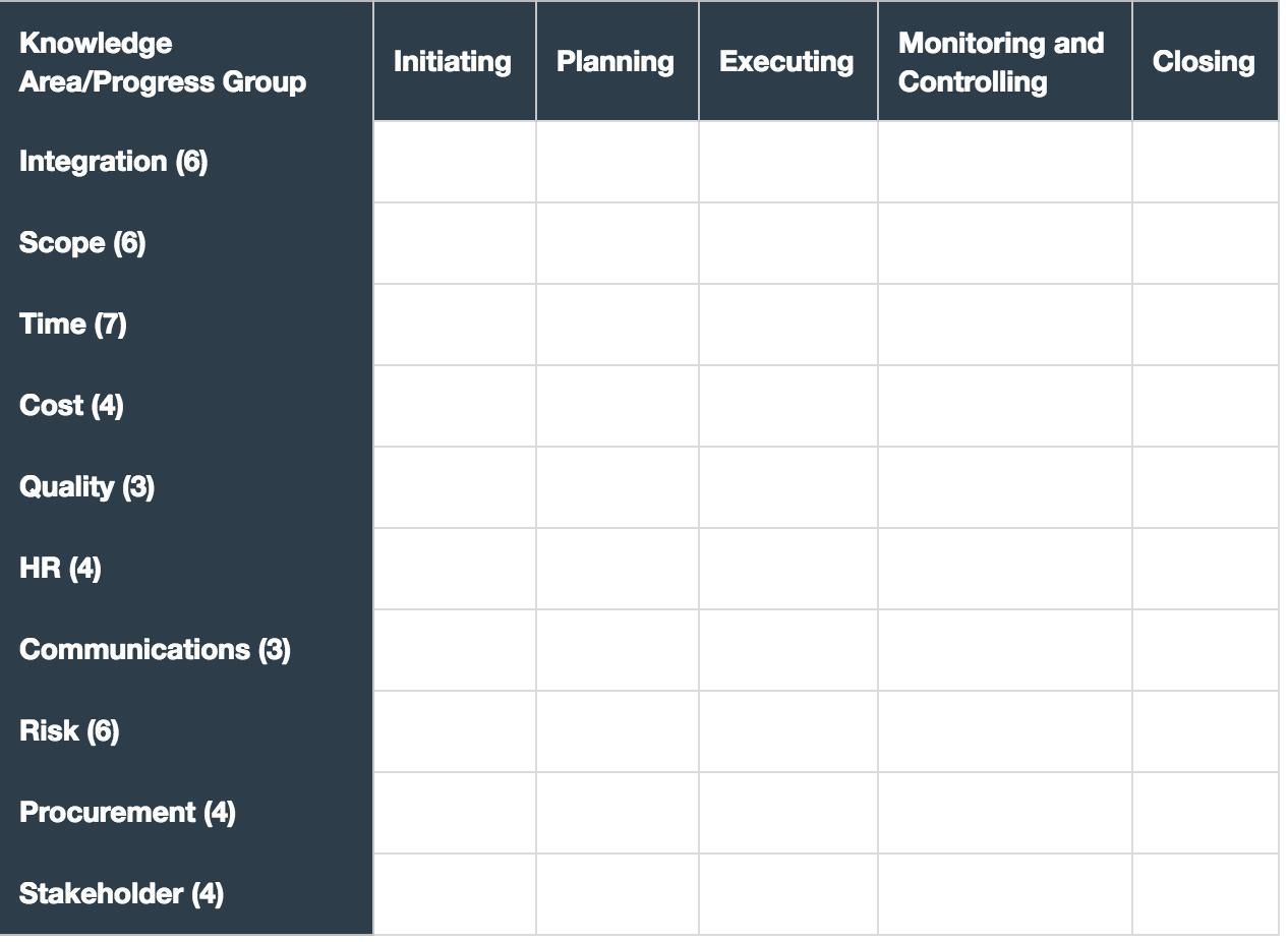 pmp process chart WIP