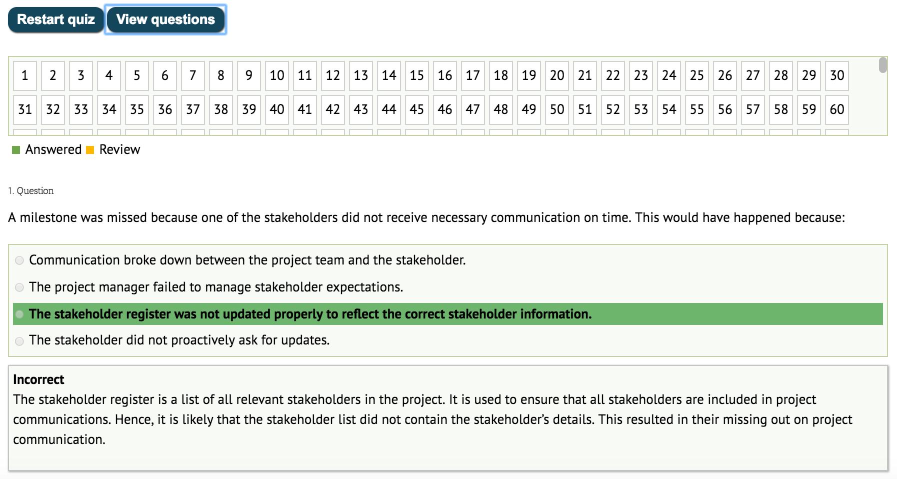 exam simulator screenshot