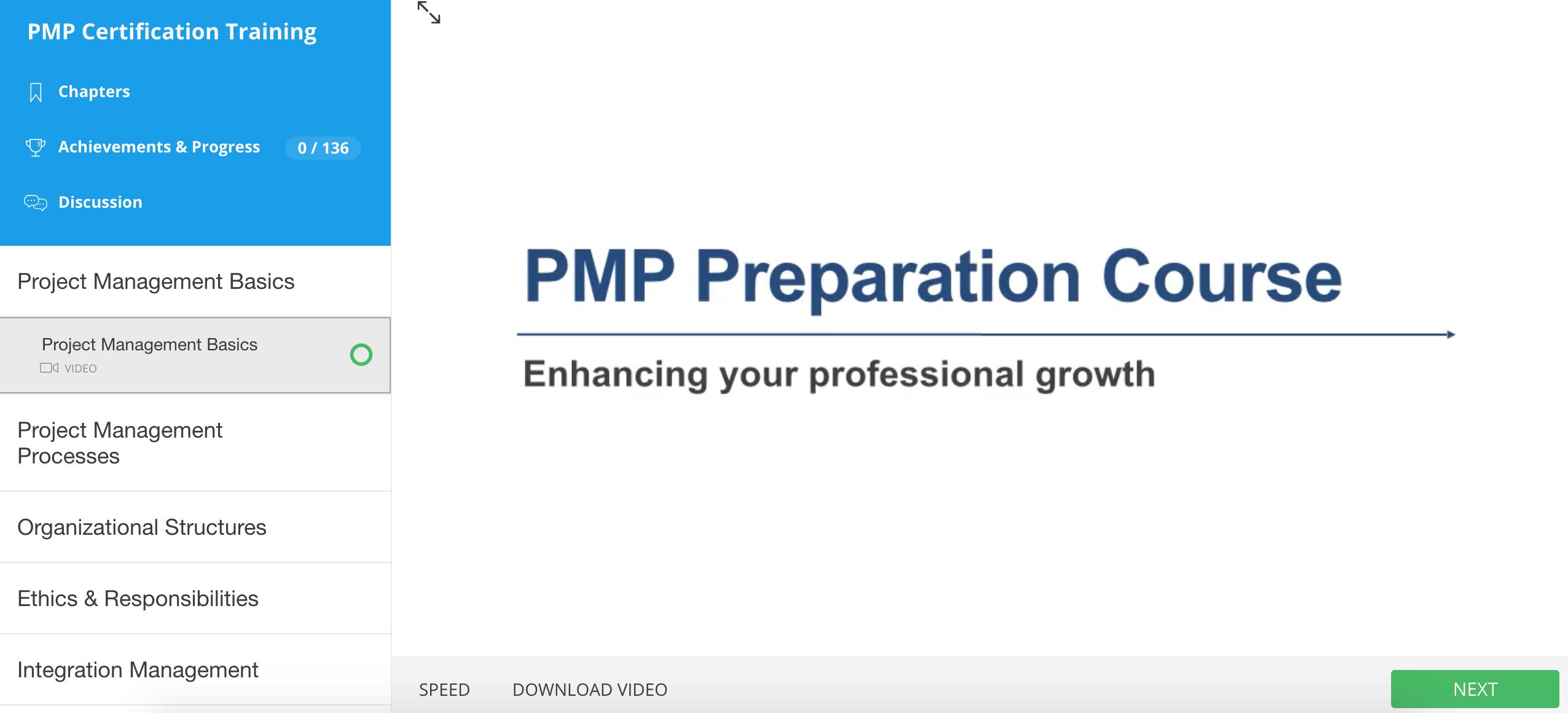 inside pmp course