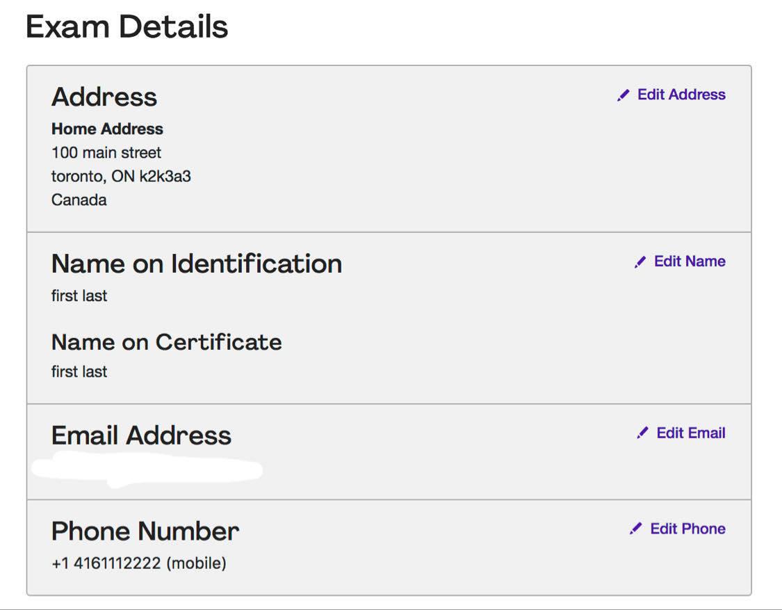 PMP application exam details
