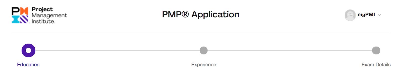 pmp application process
